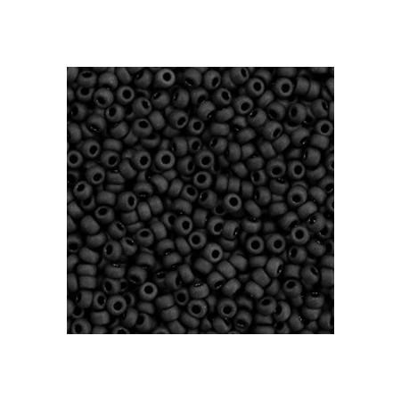 Miyuki rocailles 11/0 Opaque matte black 11-401f