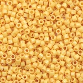 Miyuki Delica 11/0 Duracoat opaque dyed banana yellow