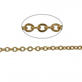 RVS Ketting 1.5x1.2mm gold plated