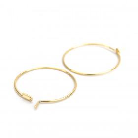 RVS oorbellen creolen 20mm stainless steel Goud