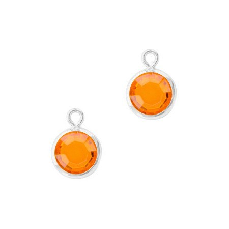 DQ facethanger Zilver Sun orange