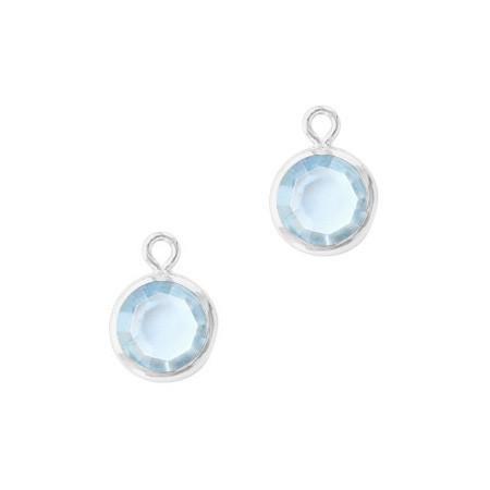 DQ facethanger Zilver Light sapphire
