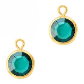 DQ facethanger Goud Blue zircon