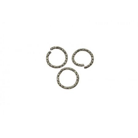 Metalen buigring 10x1.3mm rhodium
