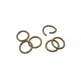 Metalen buigring 10x1.3mm goud
