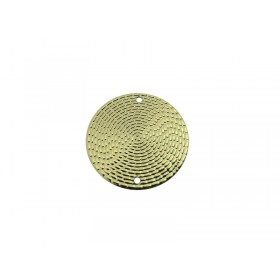 Connector rond 20mm goud