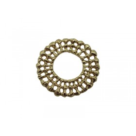 Connector rond 19/9mm goud