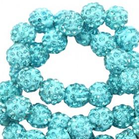 Czech rhinestone beads 6mm Turquoise blue