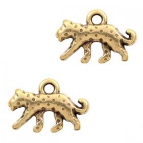 DQ bedel luipaard Antiek brons (nikkelvrij)