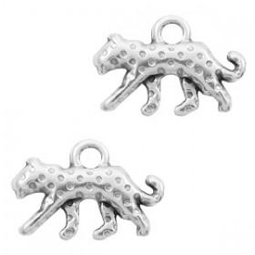 DQ bedel luipaard Antiek zilver (nikkelvrij)