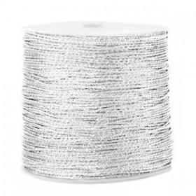 Macramé draad 0.7mm metallic Silver