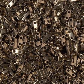 Miyuki half tila 2.3x5 mm metallic dark bronze