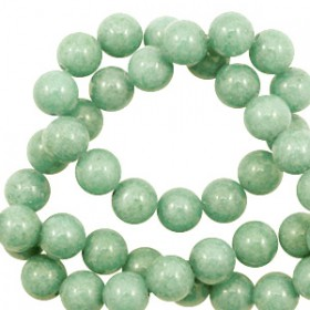 Natuursteen jade ronde kralen 8mm Meadow green