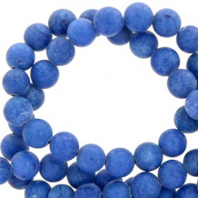 Natuursteen jade rond 4mm Deep ultramarine blue
