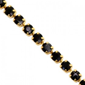 Cup chain 3mm Black-gold