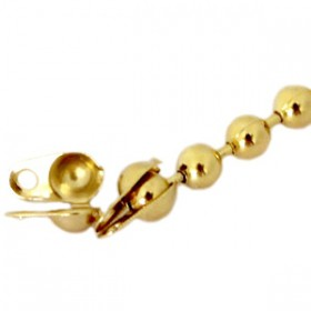 DQ Kalotjes voor Ball Chain 2mm ketting duurzame plating gold