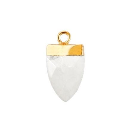 Natuursteen hangers tand Storm grey-gold