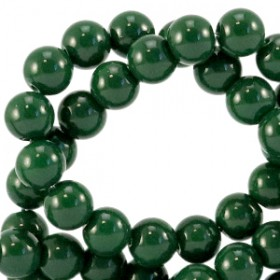 Glaskraal 4 mm opaque Dark eden green