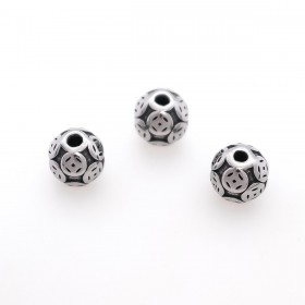 RVS spacer carved button 304 Stainless steel