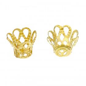 Kralenkapje filigree goudkleur