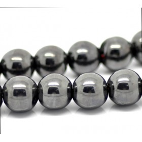 Hematite kralen rond 10mm Anthracite grey