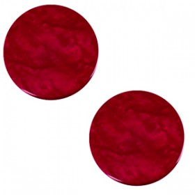 20 mm platte cabochon Polaris Elements Lively Rubino red