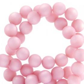 Polaris kralen matt rond 10mm Quarzo pink