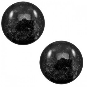 20 mm platte cabochon Polaris Elements Lively Black