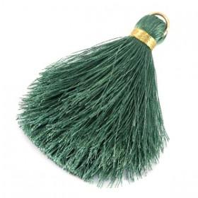 kwastjes 6cm Balsam green-warmgold
