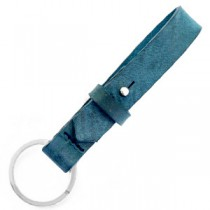 Cuoio sleutelhanger 15mm Navy peony blue