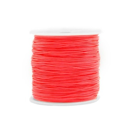 Macramé draad 0.8mm Living coral red