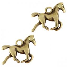 DQ bedel paard Antiek brons (nikkelvrij)