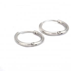 RVS oorringen stainless steel Zilver