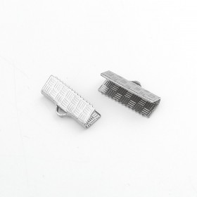 Veterklemmen 15x7mm 304 Stainless steel zilverkleur