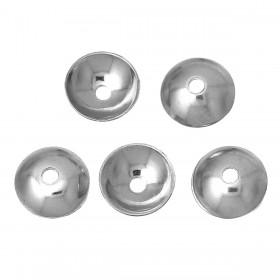 Kralenkapje rond 304 Stainless steel zilverkleur