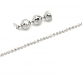 Ball chain 1.5mm Silver tone