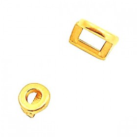 DQ metaal schuiver rond Ø3.2x1.8mm Goud (nikkelvrij)
