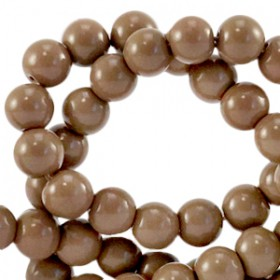 Glaskraal 3 mm opaque Rocky road brown