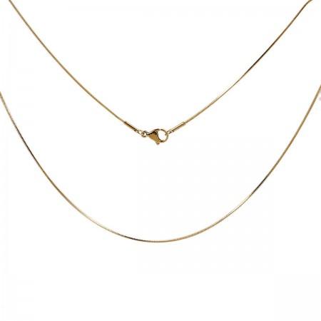 RVS Halsketting Snake chain goudkleur