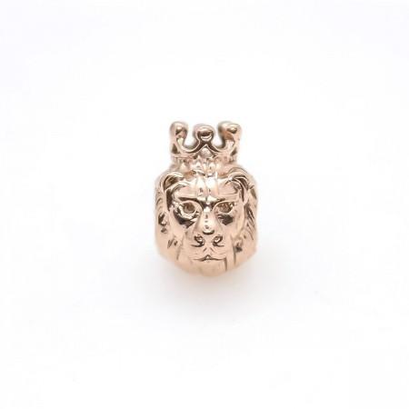 RVS spacer leeuw met kroon 304 Stainless steel Rosé goud