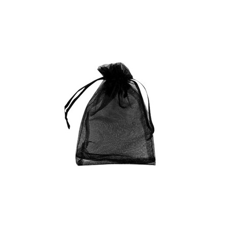 Organza Zakje 10x12 cm Black