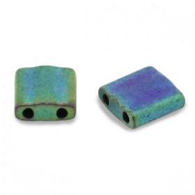 Miyuki tila 5x5 mm Metallic matte iris blue green