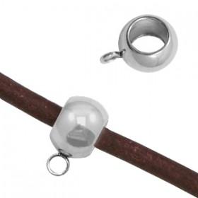 RVS spacer rondel met oog 10X6mm 304 Stainless steel