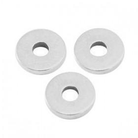 Kralen DQ metaal disc rondellen 6x1mm Antiek zilver (nikkelvrij)
