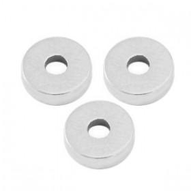 Kralen DQ metaal disc rondellen 6x2mm Antiek zilver (nikkelvrij)