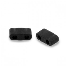 Miyuki half tila 2.3x5 mm Opaque matte black
