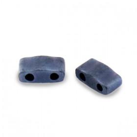 Miyuki half tila 2.3x5 mm Opaque matte gunmetal
