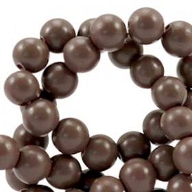 Glaskraal full mat 8mm Mocha brown