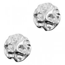 DQ metalen tussenstuk irregular Antiek zilver (nikkelvrij)
