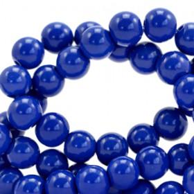 Glaskraal 8 mm opaque Strong blue